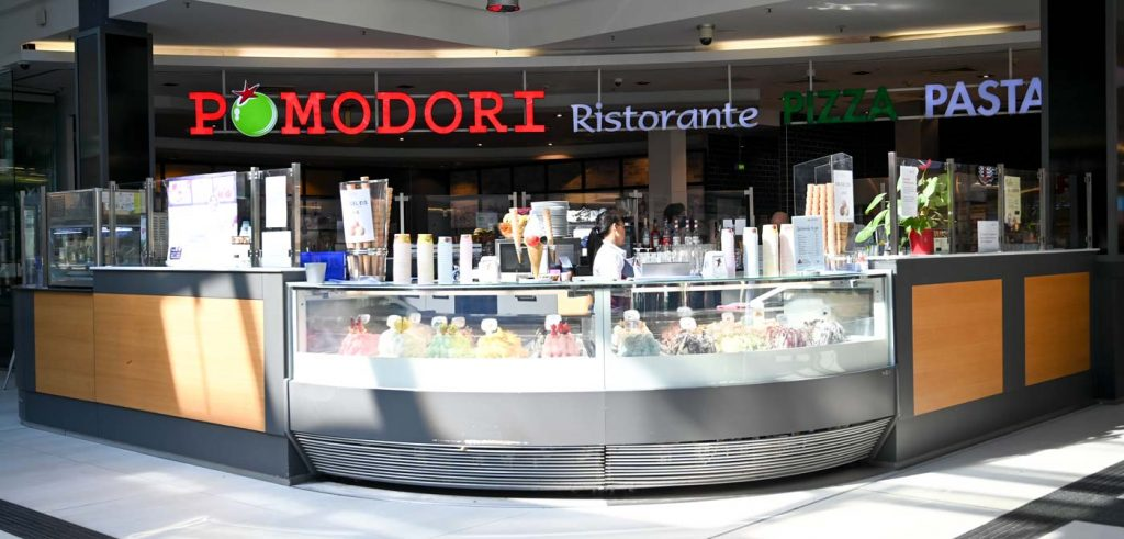 Pomodori Eis Italiens Rezept im Hauptbahnhof Potsdam